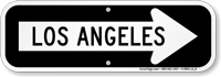 Los Angeles City Traffic Direction Sign