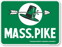 MASS PIKE Massachusetts Turnpike Authority Sign