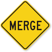 Merge Road Traffic Sign