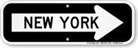 New York City Traffic Direction Sign