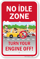 No Idle Zone Turn Your Engine Off