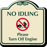 No Idling, Turn Off Engine Signature Sign