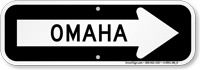 Omaha City Traffic Direction Sign