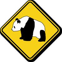 Panda Crossing Sign