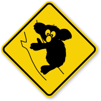Koala Animal crossing Sign