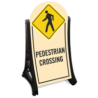 Pedestrian Crossing Portable A-Frame Sidewalk Sign Kit