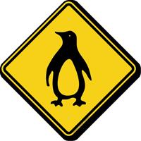 Penguin Crossing Symbol Sign