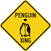 Penguin Xing Diamond Crossing Sign
