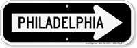 Philadelphia City Traffic Direction Sign