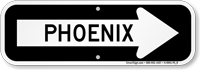 Phoenix City Traffic Direction Sign