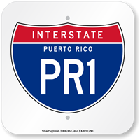 Puerto Rico Interstate PR-1 Sign