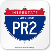 Puerto Rico Interstate PR-2 Sign
