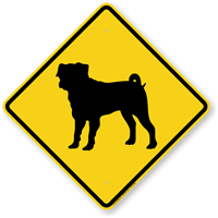 Pug Symbol Guard Dog Sign