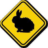 Rabbit Graphic Crossing Sign