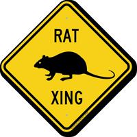 Rat Xing Road Sign