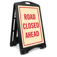 Road Closed Ahead Sidewalk Sign Kit
