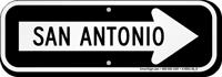 San Antonio City Traffic Direction Sign