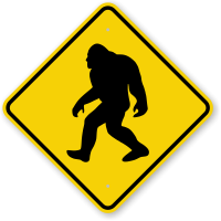 Novelty Sasquatch Big Foot Crossing Sign