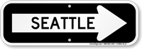 Seattle City Traffic Direction Sign