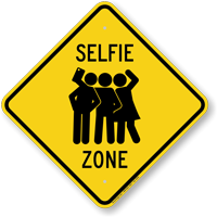 Selfie Zone Diamond Crossing Sign
