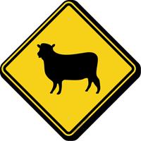 Sheep Crossing Symbol Sign