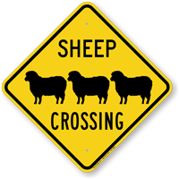 Sheep's Crossing Sign