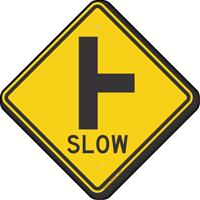 Side Road T-Junction Symbol Sign