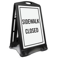 Sidewalk Closed Sidewalk Sign