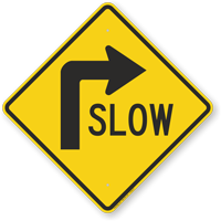Slow (Right Arrow Symbol) Sign