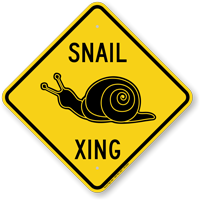 Snail Xing Animal Crossing Sign