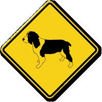 English Springer Spaniel Symbol Guard Dog Sign