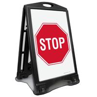 Stop Portable Sidewalk Sign