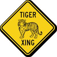 Tiger Xing Animal Crossing Sign