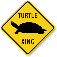 Turtle Xing Sign