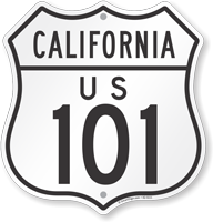 US 101 California Route Marker Shield Sign