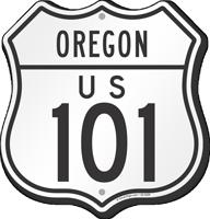 US 101 Oregon Route Marker Shield Sign