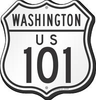 US 101 Washington Route Marker Shield Sign