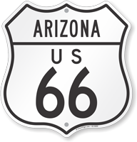 US 66 Arizona Route Marker Shield Sign