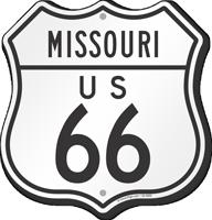 US 66 Missouri Route Marker Shield Sign