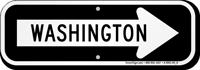 Washington City Traffic Direction Sign