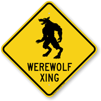 Werewolf Xing Animal Crossing Sign