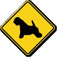 White Terrier Symbol Guard Dog Sign