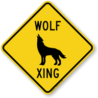 Wolf Xing Animal Crossing Sign