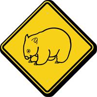 Wombat Crossing Symbol Sign