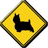 Yorkie Symbol Guard Dog Sign