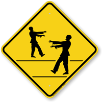 Zombie Crossing Symbol Sign