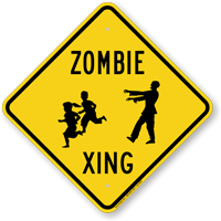 Zombie Xing Crossing Sign