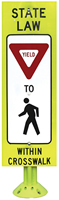 Fixed Base Pedestrians Crossing Sign