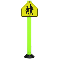 School Crossing Sign On Fixed Sign Base