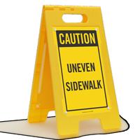 Caution Uneven Sidewalk Floor Sign